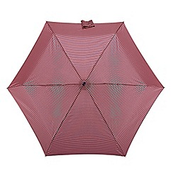 Isotoner - Pink and navy stripe print umbrella