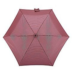 Isotoner - Pink and navy stripe print umbrella