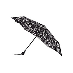 Isotoner - Rain text print xtra strong umbrella
