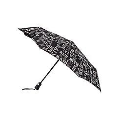 Totes - Rain text print xtra strong umbrella