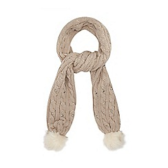 Star by Julien Macdonald - Natural jewel cable knit scarf