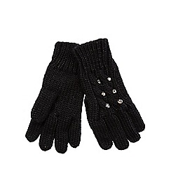 Star by Julien Macdonald - Black jewel cable knit gloves