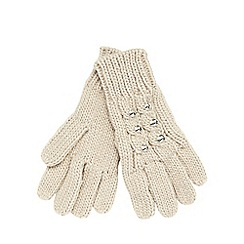 Star by Julien Macdonald - Natural jewel cable knit gloves