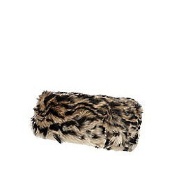 Star by Julien Macdonald - Natural leopard faux fur headband