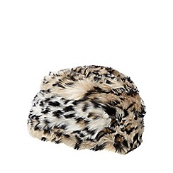 Star by Julien Macdonald - Natural leopard faux fur cossack