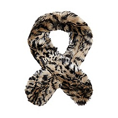 Star by Julien Macdonald - Natural leopard faux fur scarf