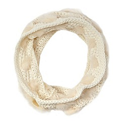 Star by Julien Macdonald - Cream knit and faux fur snood