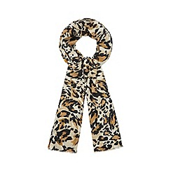 Star by Julien Macdonald - Natural leopard print scarf