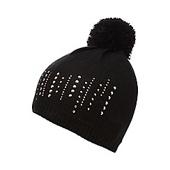 Star by Julien Macdonald - Black stud beanie hat