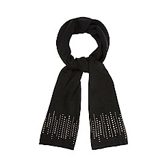 Star by Julien Macdonald - Black studded scarf