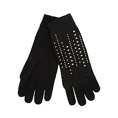 Star by Julien Macdonald - Black studded gloves