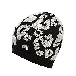 Star by Julien Macdonald - Black monochrome beanie
