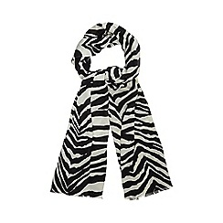 Star by Julien Macdonald - Black zebra print scarf