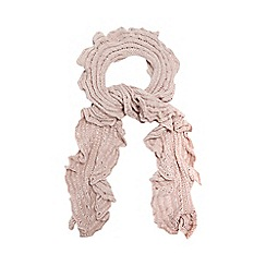 Betty Jackson.Black - Pink ruffle scarf