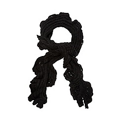Betty Jackson.Black - Black ruffle scarf