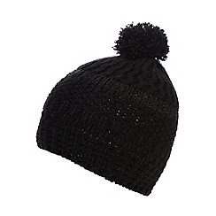 Betty Jackson.Black - Black mixed yarn beanie