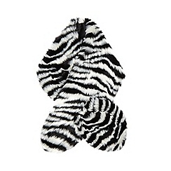 Star by Julien Macdonald - Black faux fur zebra print scarf