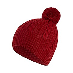 Star by Julien Macdonald - Red zip detail beanie hat