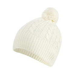 Star by Julien Macdonald - Cream zip detail beanie hat