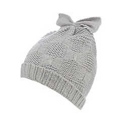Iris & Edie - Grey bow knitted hat