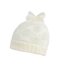 Iris & Edie - Cream knitted bow hat