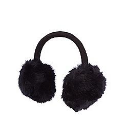 Iris & Edie - Navy faux fur earmuffs