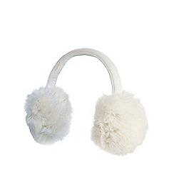 Iris & Edie - Cream faux fur earmuffs