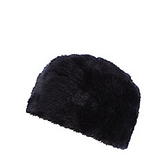 Iris & Edie - Navy faux fur cossack