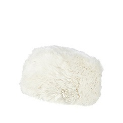 Iris & Edie - Cream faux fur cossack hat