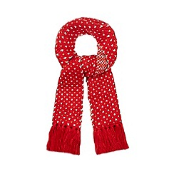Iris & Edie - Red heart scarf