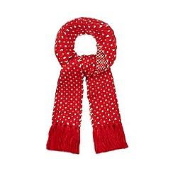 Iris & Edie - Red heart scarf