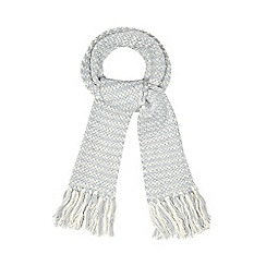 Iris & Edie - Grey sparkle knitted heart scarf