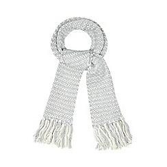 Iris & Edie - Grey sparkle knitted heart scarf