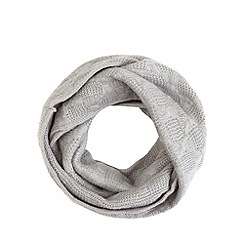 Iris & Edie - Grey bow knit snood