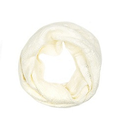 Iris & Edie - Cream bow knit scarf