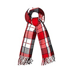 Iris & Edie - Red checked blanket scarf