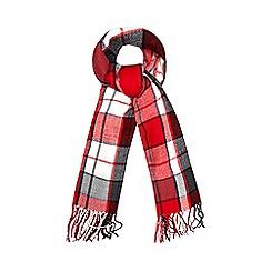 Iris & Edie - Red checked blanket scarf