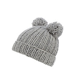 Iris & Edie - Grey pom pom knitted hat