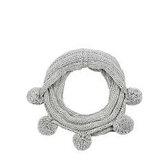 Iris & Edie - Grey rib knitted scarf