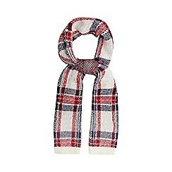 Iris & Edie - Navy tartan knit scarf