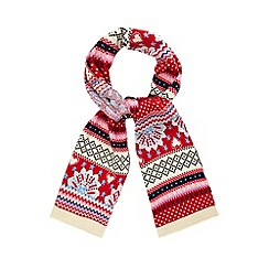 Iris & Edie - Red heart knit scarf