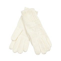 Iris & Edie - Cream bow knit gloves