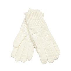 Iris & Edie - Cream bow knit gloves