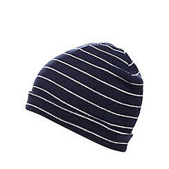Iris & Edie - Navy striped beanie