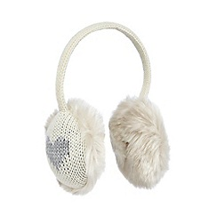 Iris & Edie - Cream heart earmuffs