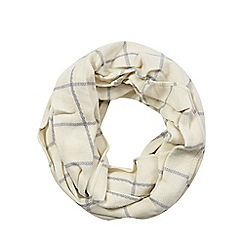 H! by Henry Holland - Cream windowpane checked snood