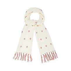H! by Henry Holland - Cream spotted scarf