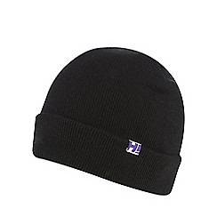 H! by Henry Holland - Black 'boyfriend' beanie hat