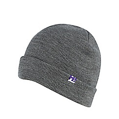H! by Henry Holland - Grey 'boyfriend' beanie hat