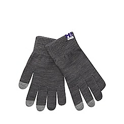H! by Henry Holland - Grey touchscreen gloves